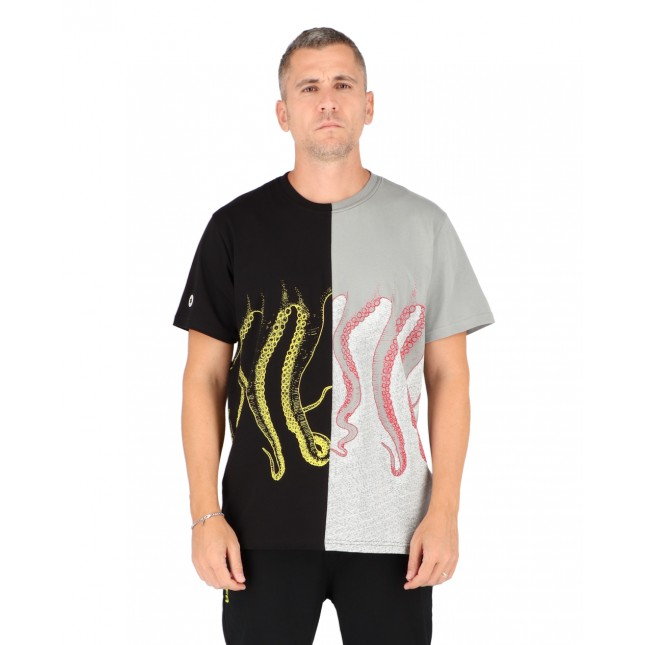 Octopus T-Shirt Uomo Half Tee Multicolor