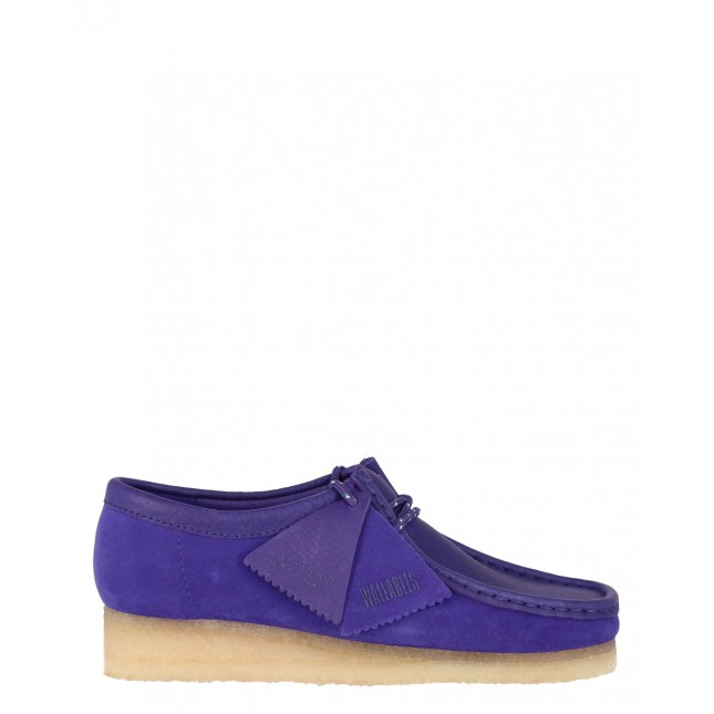 Clarks Scarpa Donna Wallabee Boot Purple Combi