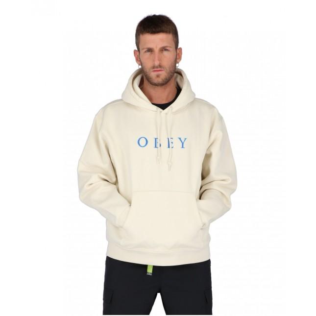 Obey Felpa Uomo Beige Curtis Hood Fleece Natural