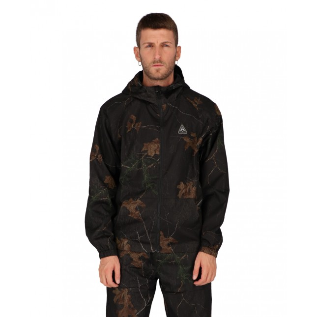 Huf Giacca Uomo Nera Network Lightweight Jacket Realtree Black