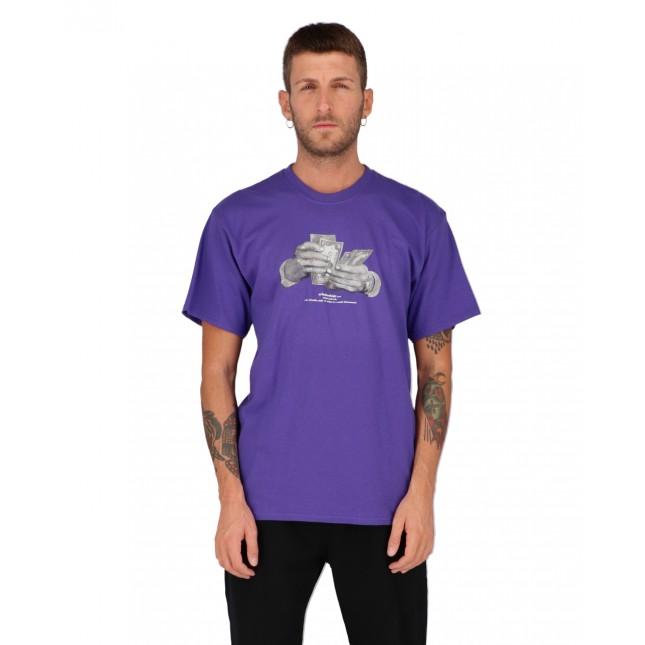 Huf T-Shirt Uomo Viola Criminology S/S Tee Purple