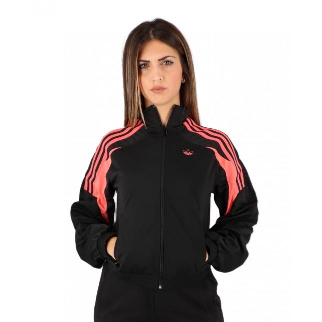 Adidas Felpa Donna Nera Tracktop Black