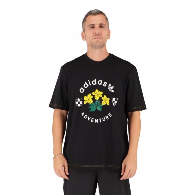 Adidas T-Shirt Uomo Nera Adventure Graphic Tee Black