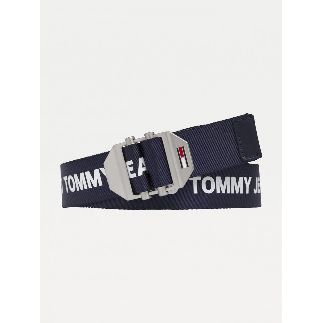 Tommy Jeans Cintura Blu Double Roller Buckle 3.5 Twilight Navy