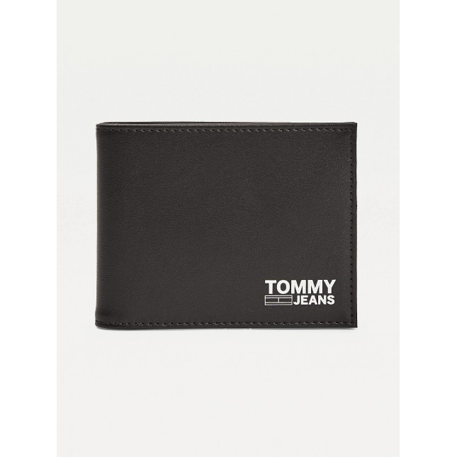 Tommy Jeans Portafoglio Nero Mini CC Wallet Recycled Leather Black