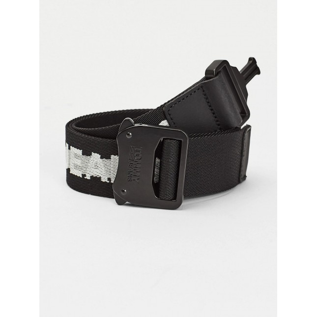 Tommy Jeans Cintura Nera Cobra Webbing Belt 3.5 Black