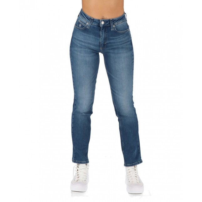 Calvin Klein Jeans Donna High Rise Flare Ankle Bright Blue