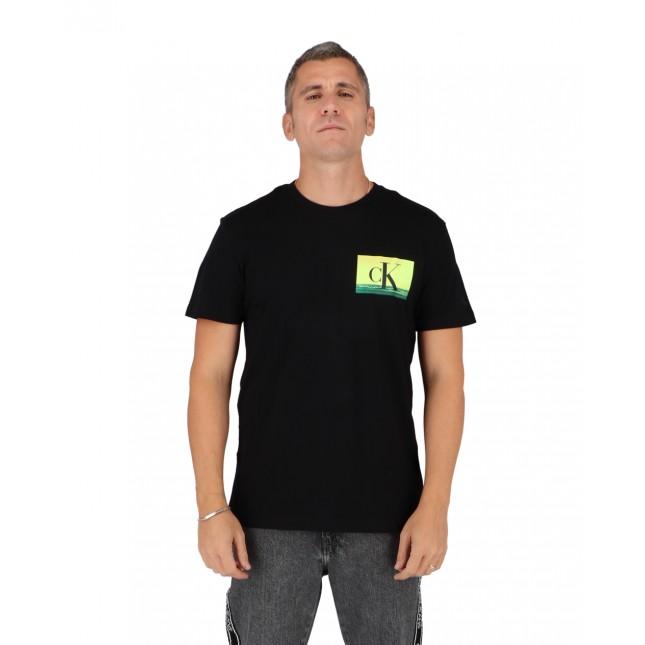Calvin Klein T-Shirt Uomo Nera Festival Photoprint Tee CK Black