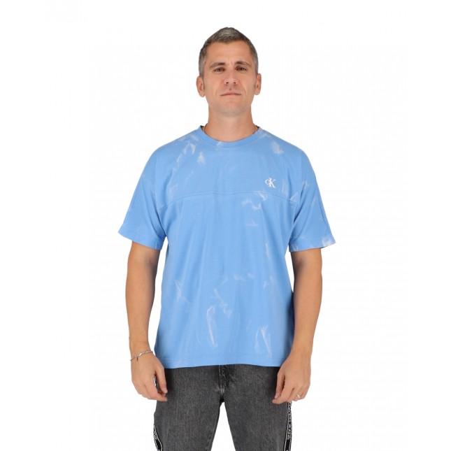 Calvin Klein T-Shirt Uomo Lava Dye Tee Powdery Blue