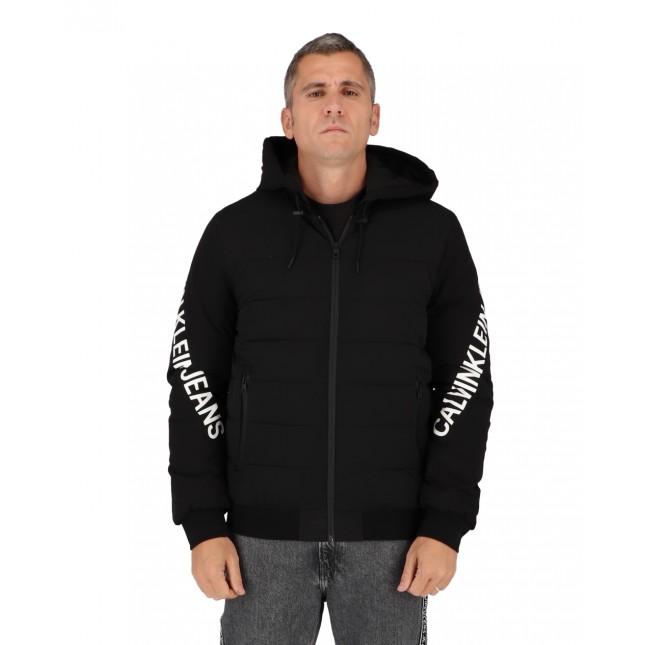 Calvin Klein Giubbotto Uomo Nero Stretch Logo Jacket CK Black