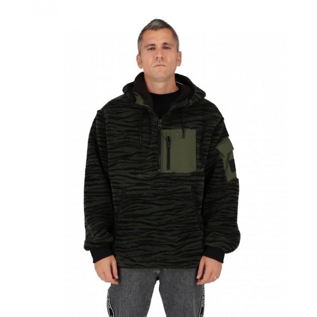Calvin Klein Giacca Uomo Verde Sherpa Jacket Deep Depths