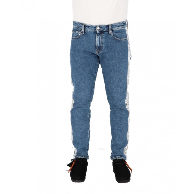 Calvin Klein Jeans Uomo CKJ 026 Slim AB081 ICN Mid Blue Tape