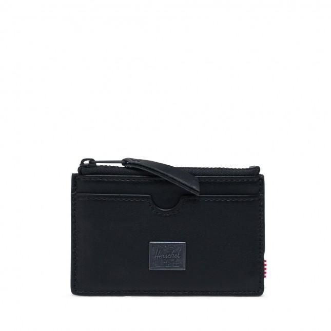Portafoglio Herschel Oscar Leather RFID Black