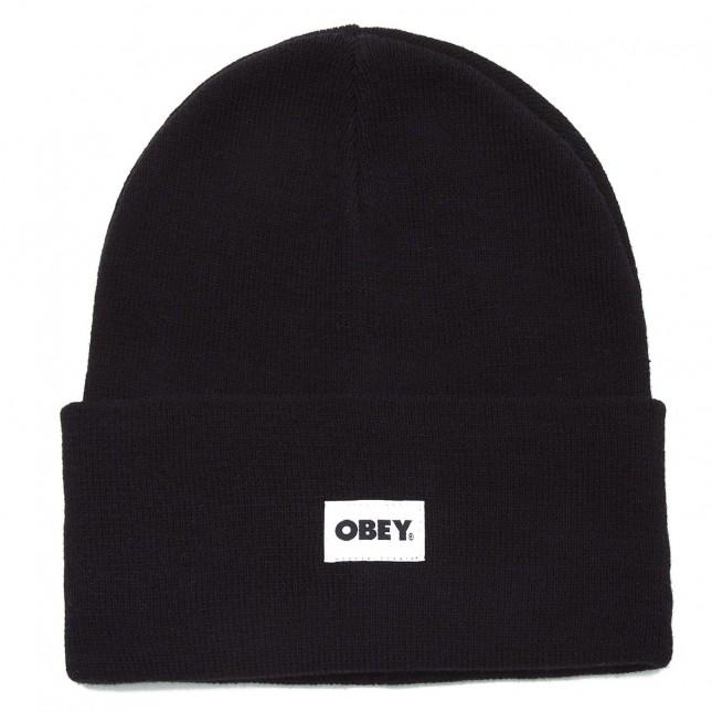 Obey Cappello Nero Bold Label Organic Beanie Black