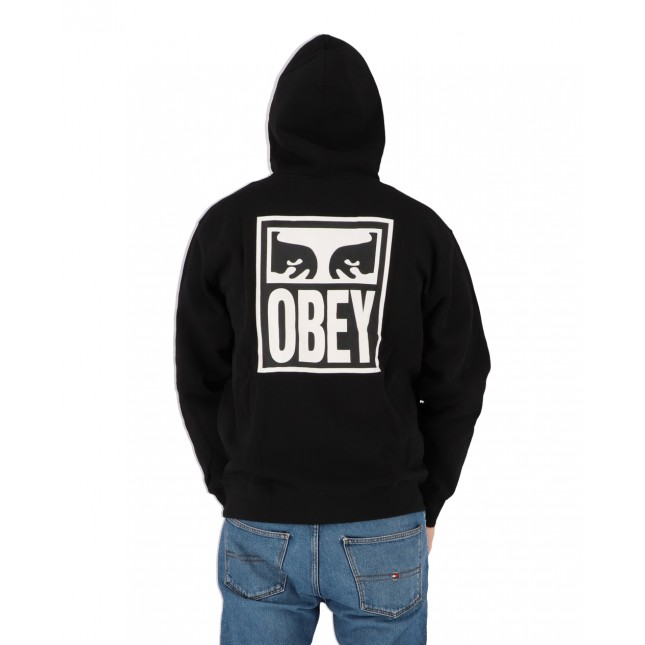 Obey Felpa Uomo Nera Eyes Icon 2 Premium Hooded Fleece Black