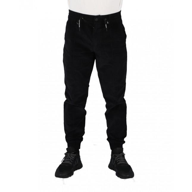 Calvin Klein Pantaloni Uomo Neri Corduroy Pant CK Black