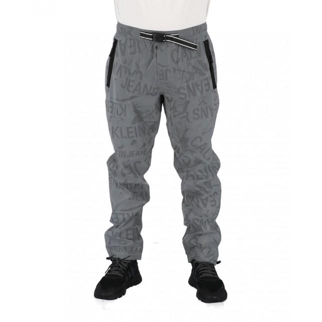 Calvin Klein Pantaloni Uomo Neri Reflective Track Pant CK Black