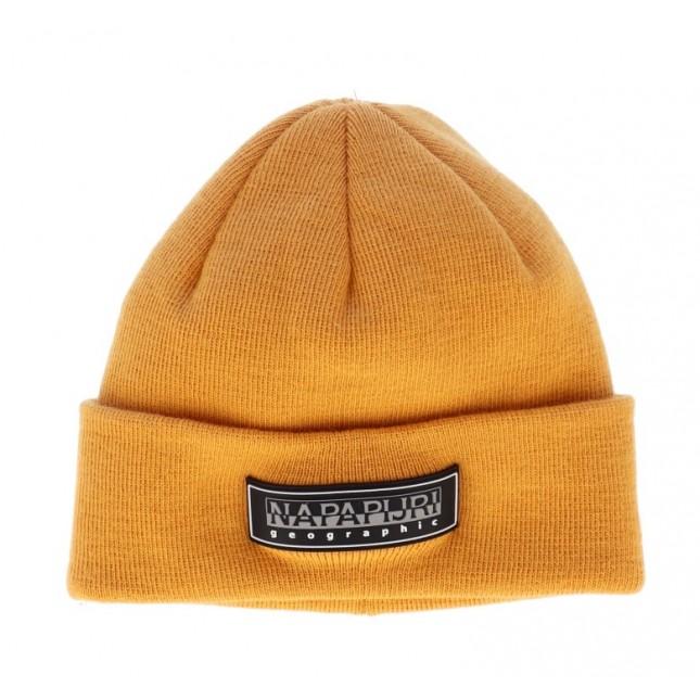 Napapijri Cappello Giallo Patch Beanie Yellow Solar