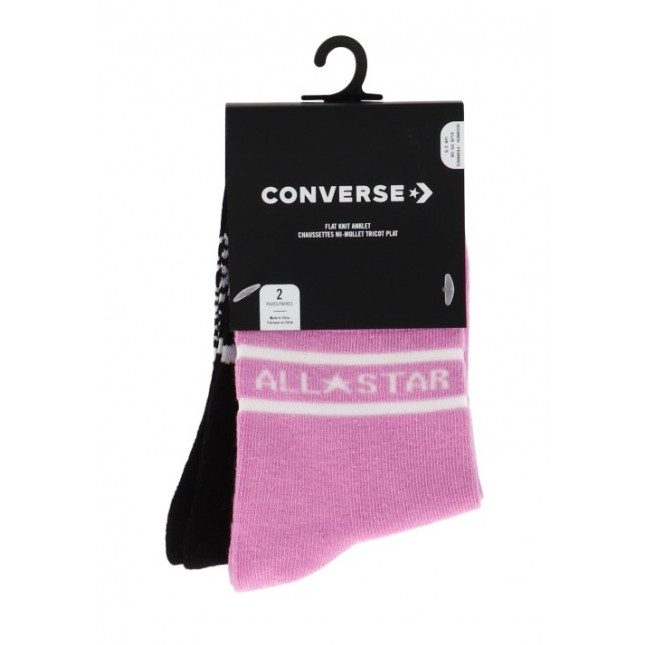 Calze Converse All Star Double Stripe Anklet Peony Pink / Black