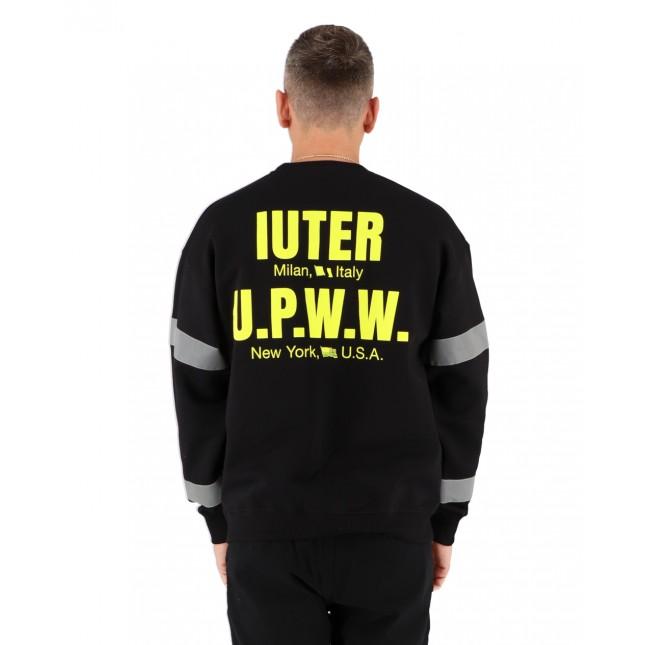 Iuter Felpa Uomo Nera U.P.W.W. Crew Black