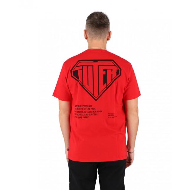 Iuter T-Shirt Uomo Rossa Double Logo Tee Red