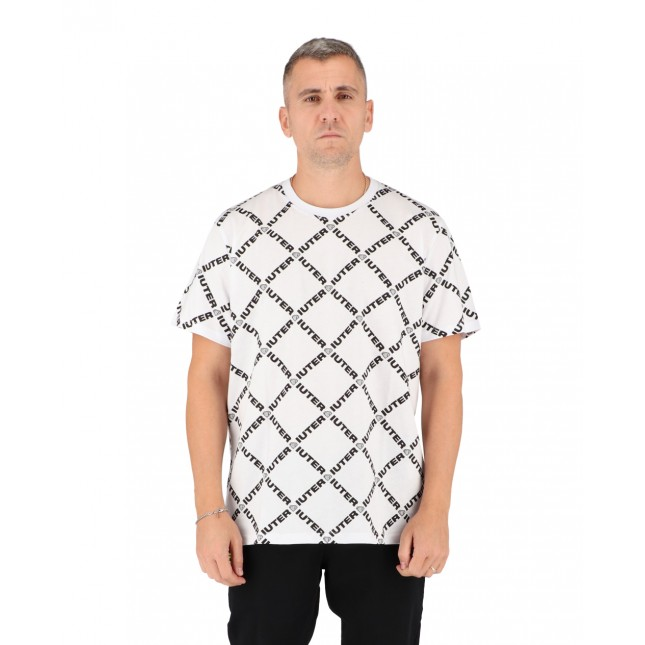 Iuter T-Shirt Uomo Bianca Diamond Tee White