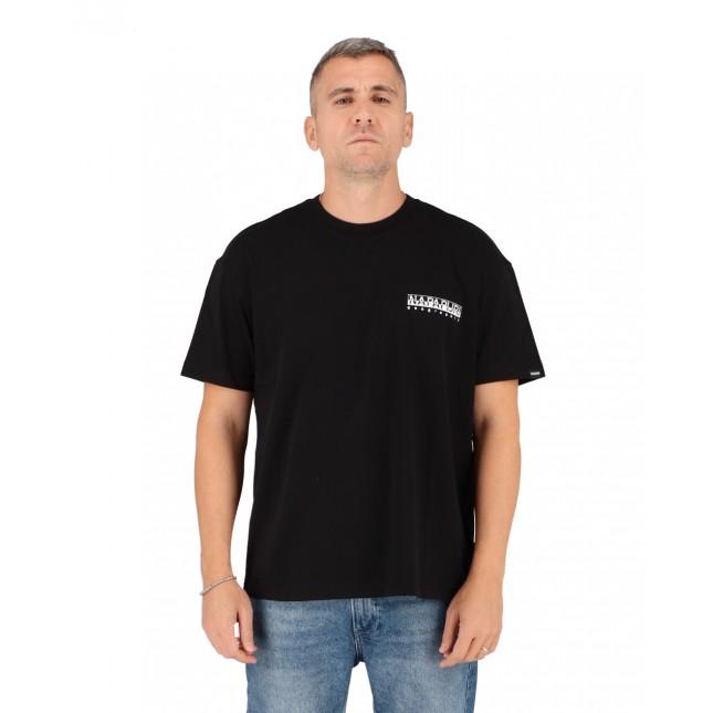Napapijri T-Shirt Uomo Nera Yoik Tee Black