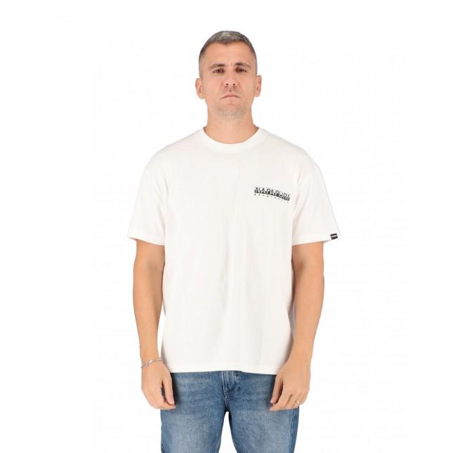 Napapijri T-Shirt Uomo Bianca Yoik Tee Bright White