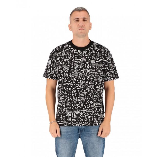 Napapijri T-Shirt Uomo Nera Noaide Tee Black AOP