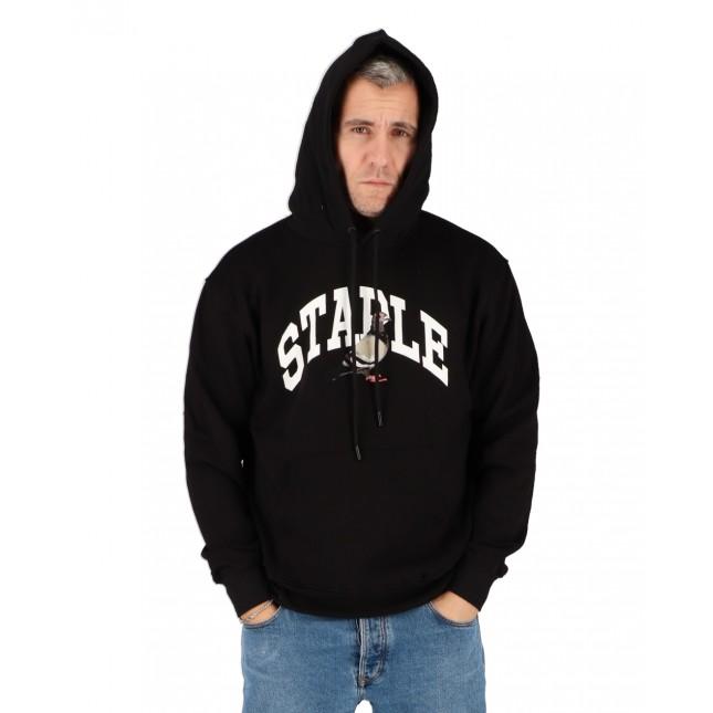 Staple Felpa Uomo Nera Collegiate Hoodie Black