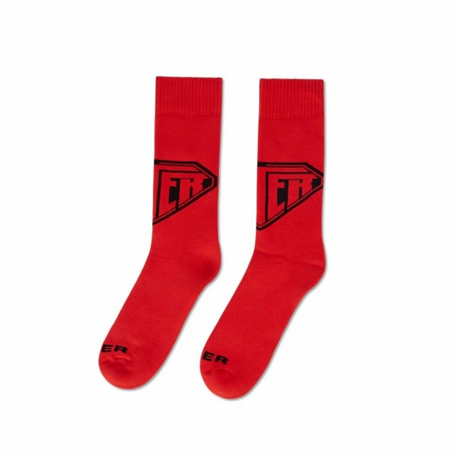 Iuter Calze Rosse Logo Socks Red