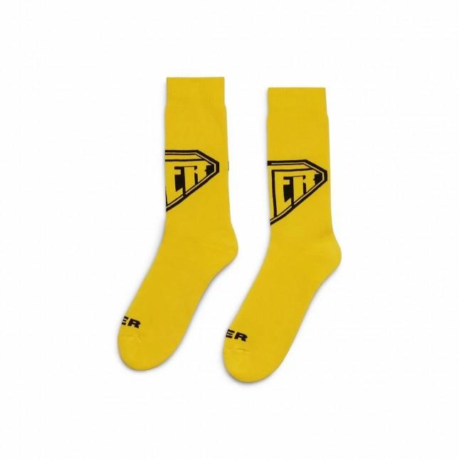Iuter Calze Gialle Logo Socks Yellow