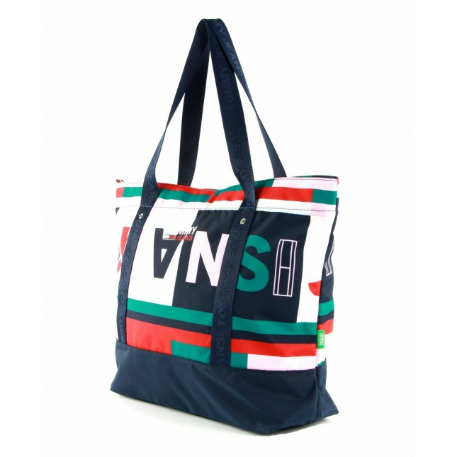 Tommy Jeans Borsa Printed Tote All Over Print