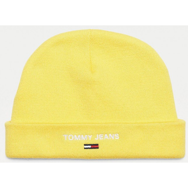 Tommy Jeans Cappello Giallo Sport Beanie Valley Yellow