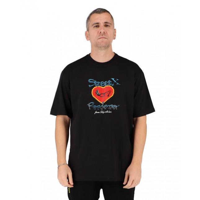 Pas De Mer T-Shirt Uomo Nera Street X Lovers Tee Black