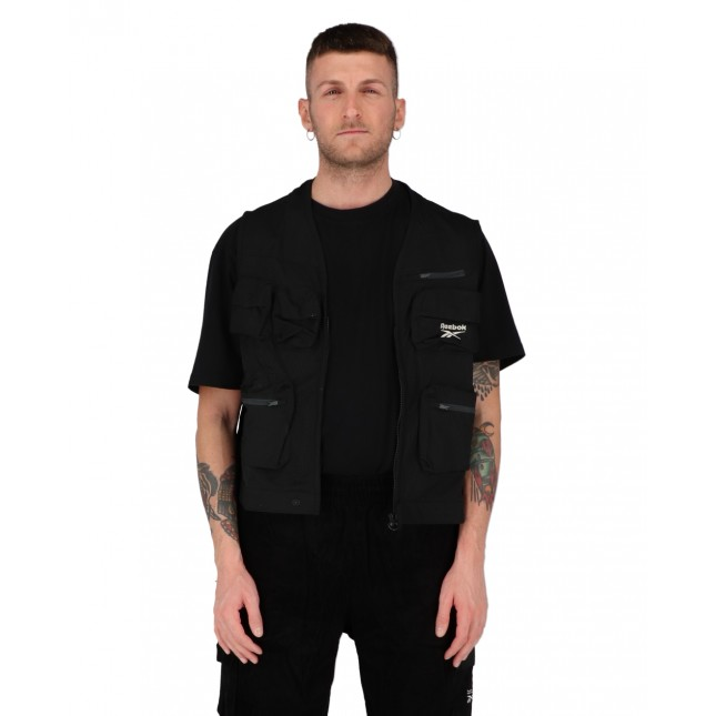 Reebok Gilet Uomo Nero Fishing Vest Black