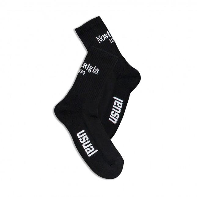 Usual Calze Nere Nostalgia 1994 Socks Black