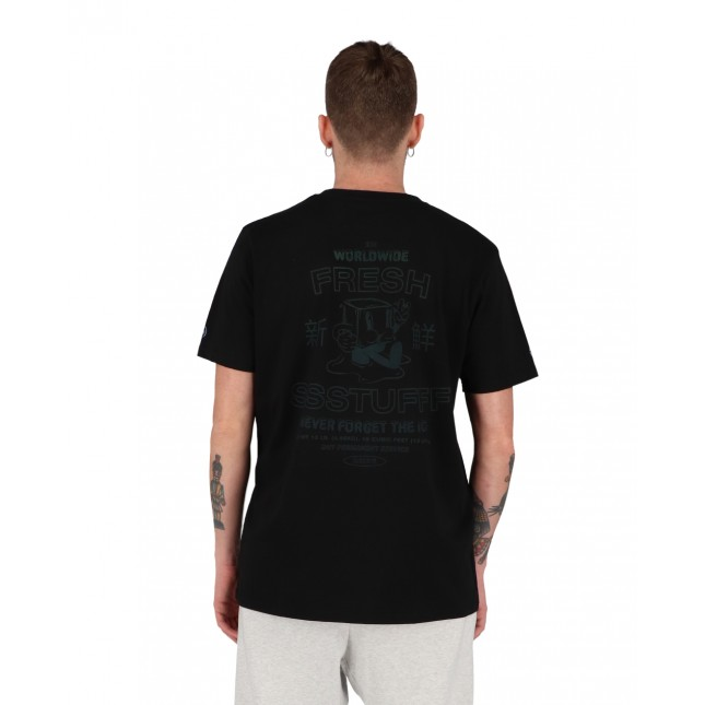 SSSTUFFF T-Shirt Uomo Nera Fresh Summer Ice Tee Black
