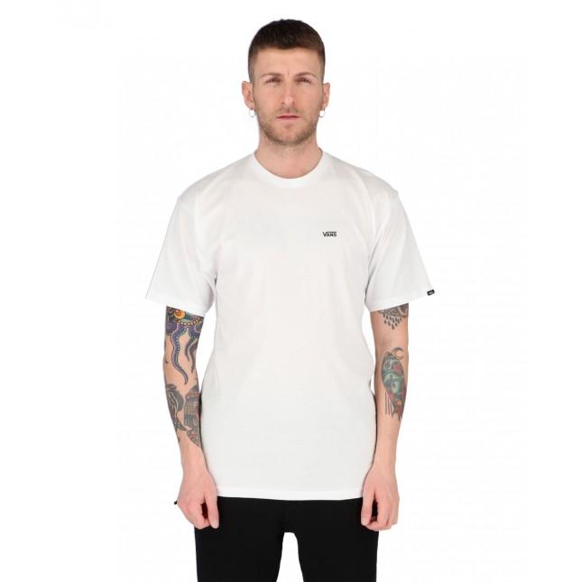 Vans T-Shirt Uomo Bianca Left Chest Logo Tee White/Black
