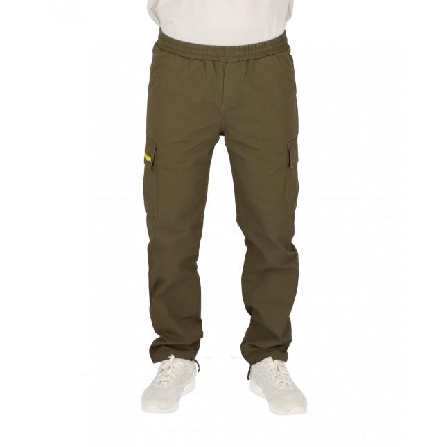 Iuter Pantaloni Uomo Verdi Cargo Pant Army