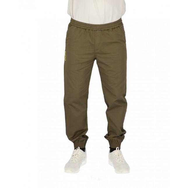 Iuter Pantaloni Uomo Verdi Jogger Army