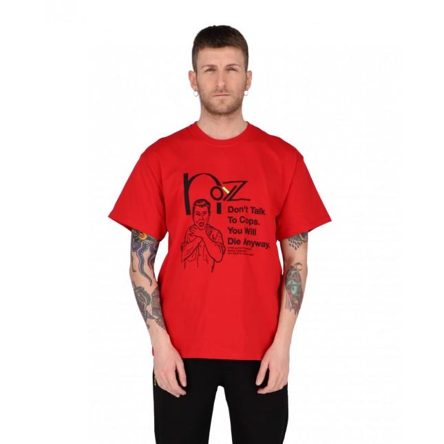 Iuter x Noyz Narcos T-Shirt Uomo Rossa Snitch Tee Red