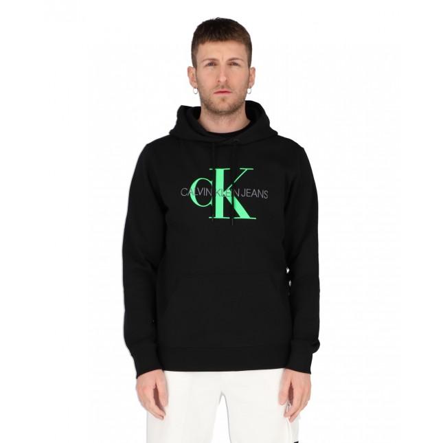 Calvin Klein Felpa Uomo Monogram Regular Hoodie CK Black