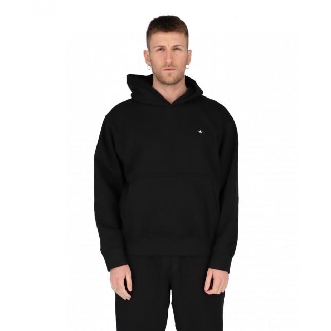 Adidas Felpa Uomo Nera Premium Hoodie Black