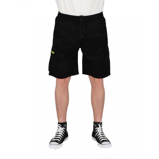 Iuter Pantaloncini Uomo Neri Cargo Camo Short Black