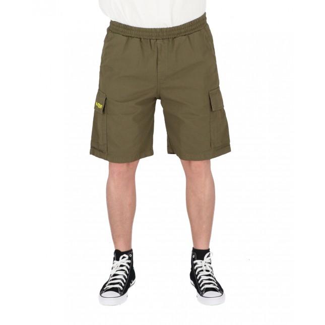 Iuter Pantaloncini Uomo Verdi Cargo Short Army