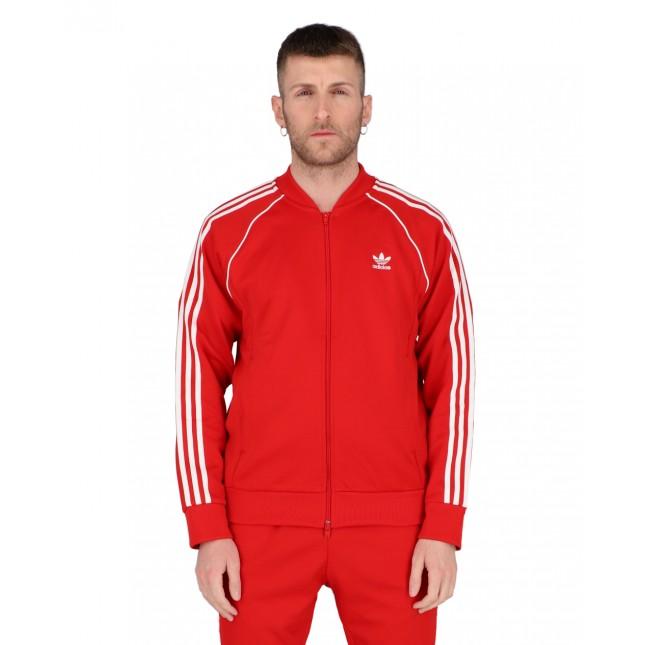 Adidas Giacca Uomo Rossa SST Tracktop Primeblue Scarlet