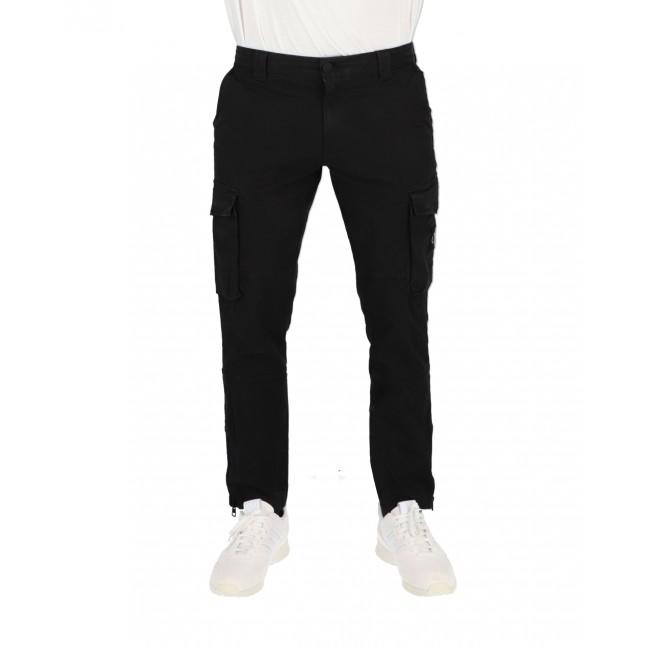 Calvin Klein Pantaloni Uomo Neri Skinny Washed Cargo Pants CK Black